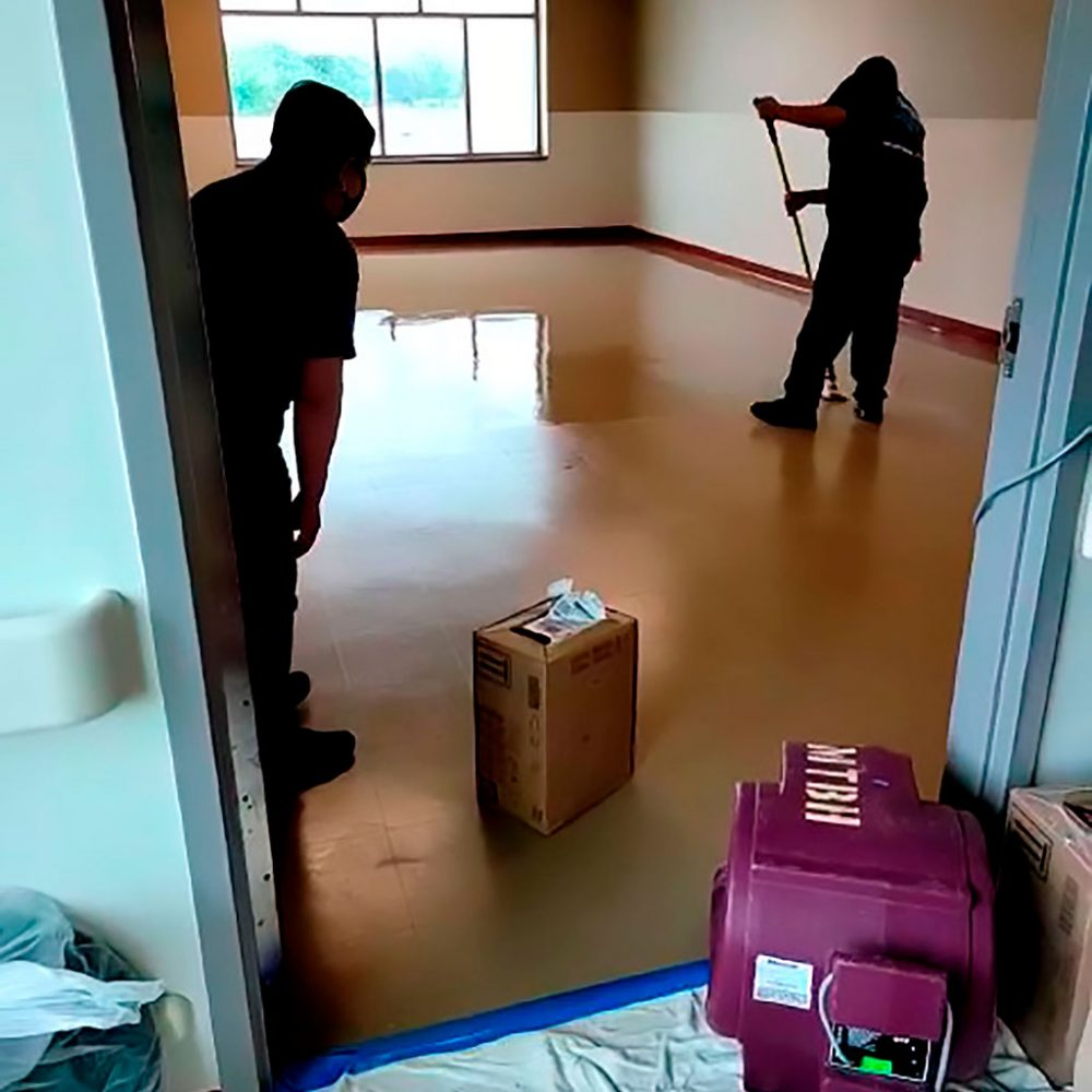 sweeping and mopping